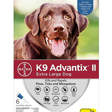 K9 Advantix II Topical Extra Large Dog Flea & Tick Treatment