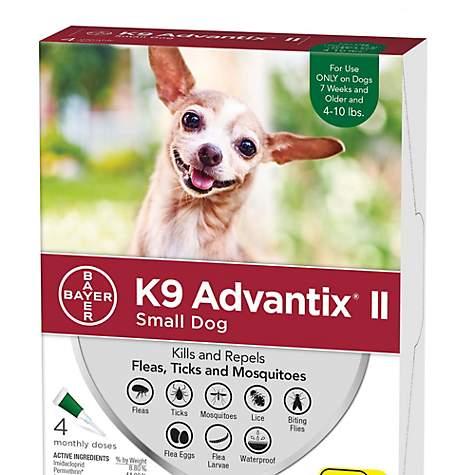 K9 Advantix II Topical Small Dog Flea Tick Treatment Pack Of 4
