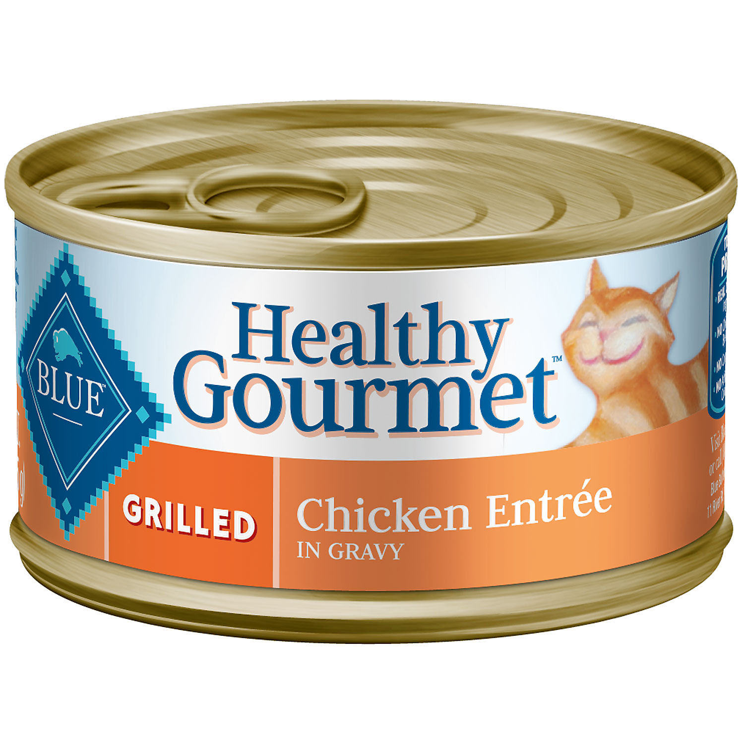 Blue Buffalo Healthy Gourmet Grilled Chicken Adult Canned Cat Food 3 Oz. Case Of 24