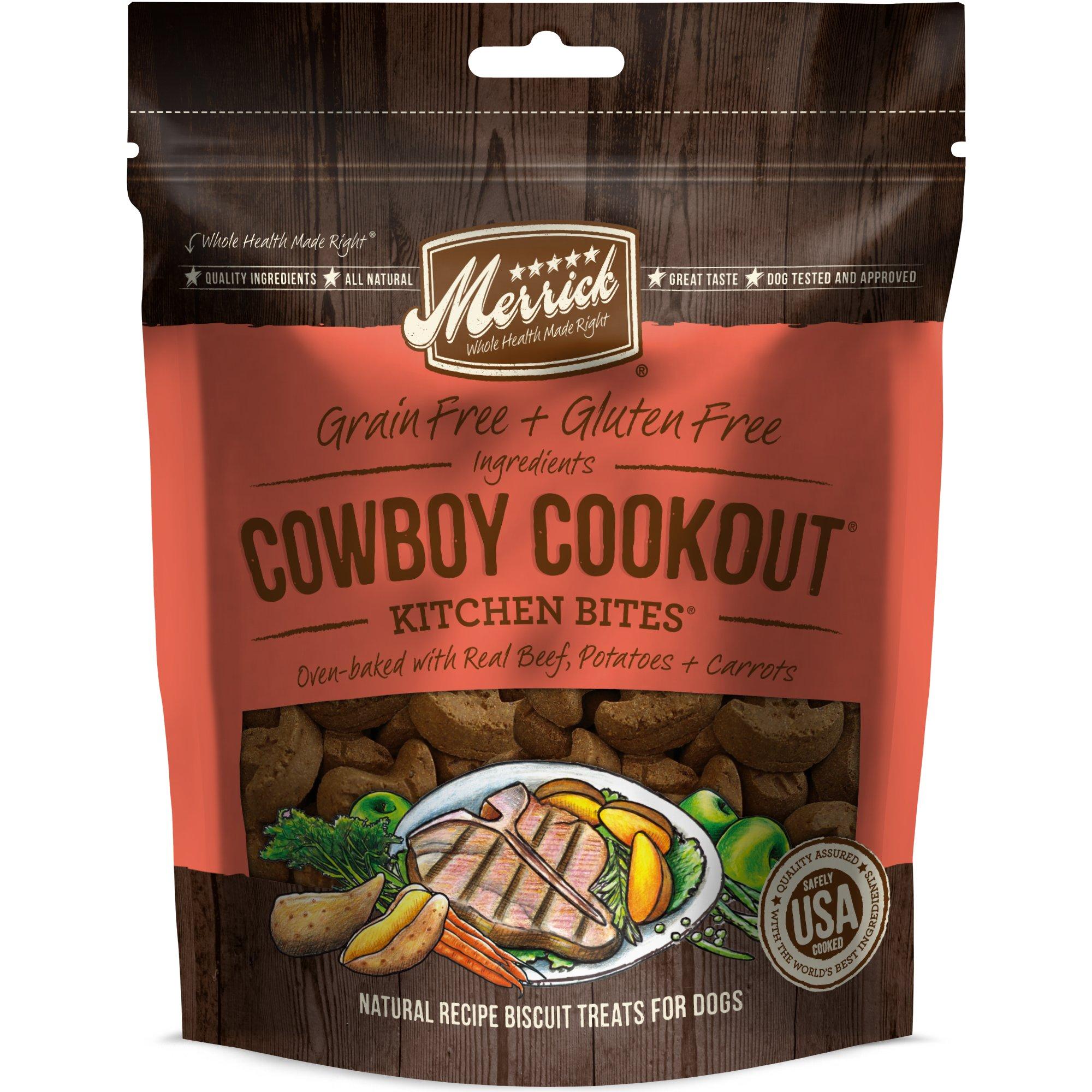 Merrick Grain Free Kitchen Bites Cowboy Cookout Dog Treats, 9 oz.
