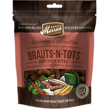 Merrick Grain Free Kitchen Bites Brauts-N-Tots Dog Treat