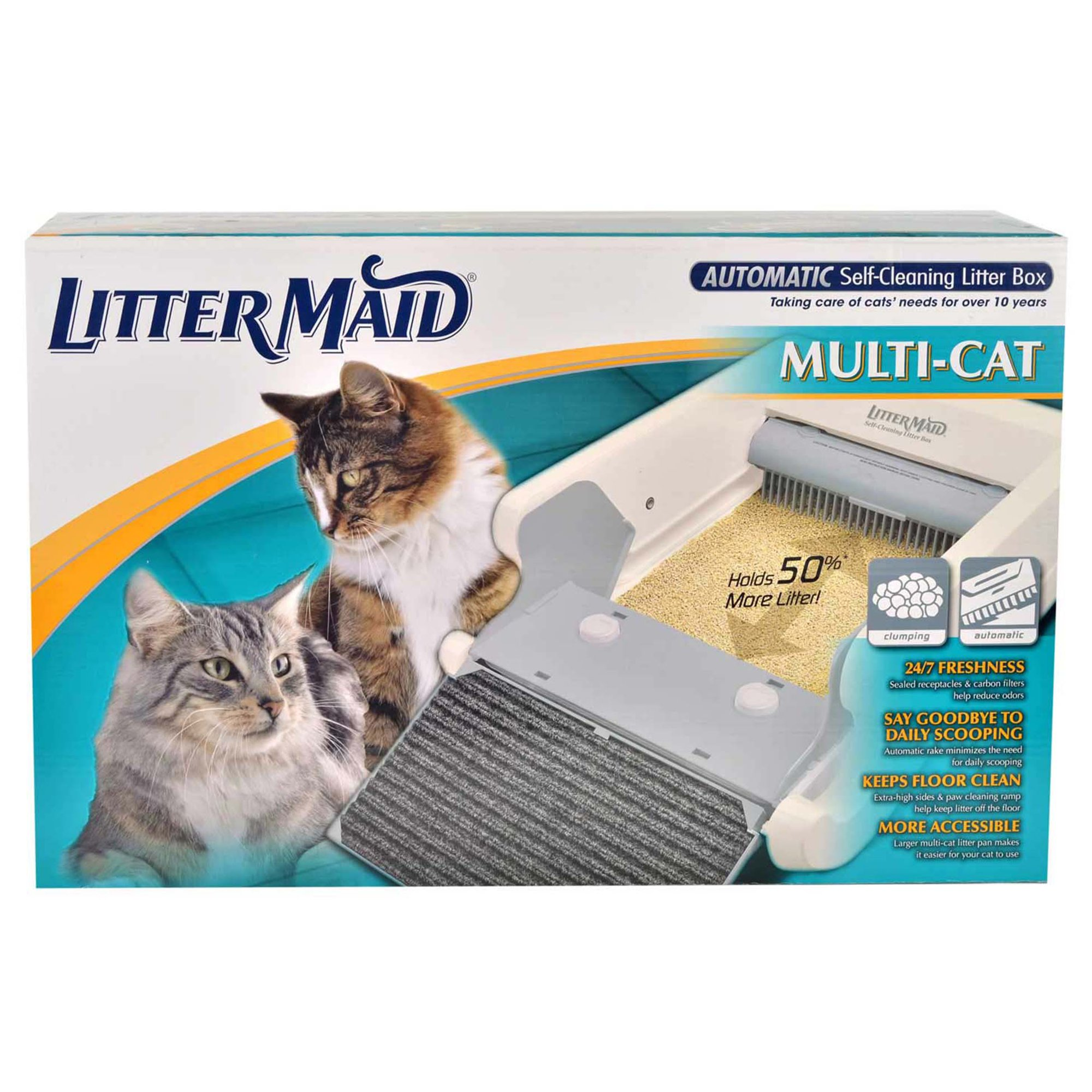 Littermaid multi cat automatic self cleaning litter box for Dog litter box petco