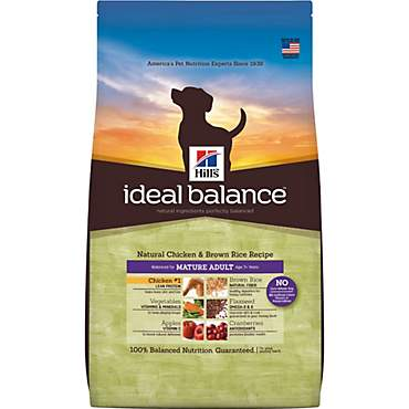 Hill's Ideal Balance Mature Adult Natural Chicken & Brown Rice Recipe Dry Dog Food