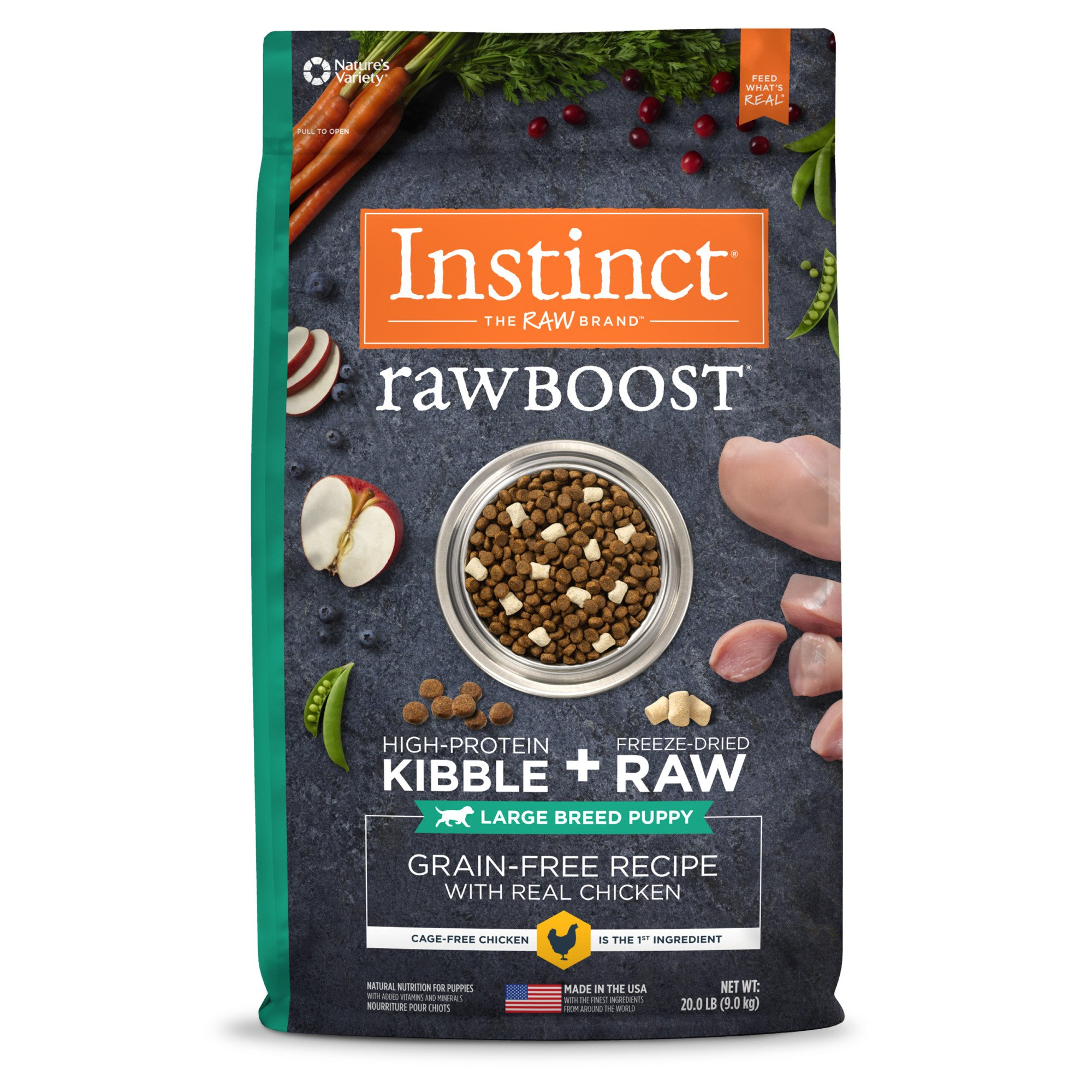 Instinct Raw Boost Large Breed Puppy Grain Free Recipe With Real