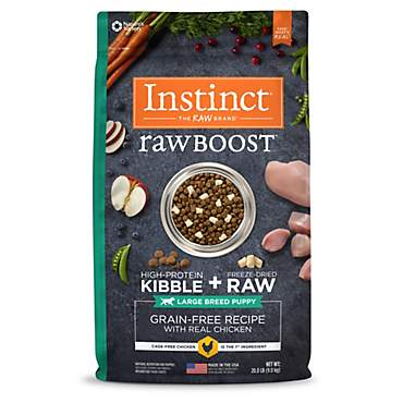 Instinct Raw Boost Large Breed Puppy Grain-Free Recipe with Real Chicken Natural Dry Dog Food by Nature's Variety
