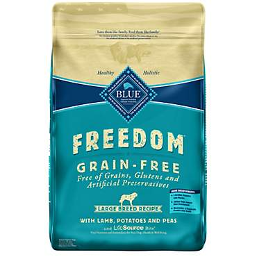 Blue Buffalo Blue Freedom Grain-Free Large Breed Adult Lamb Recipe Dry Dog Food