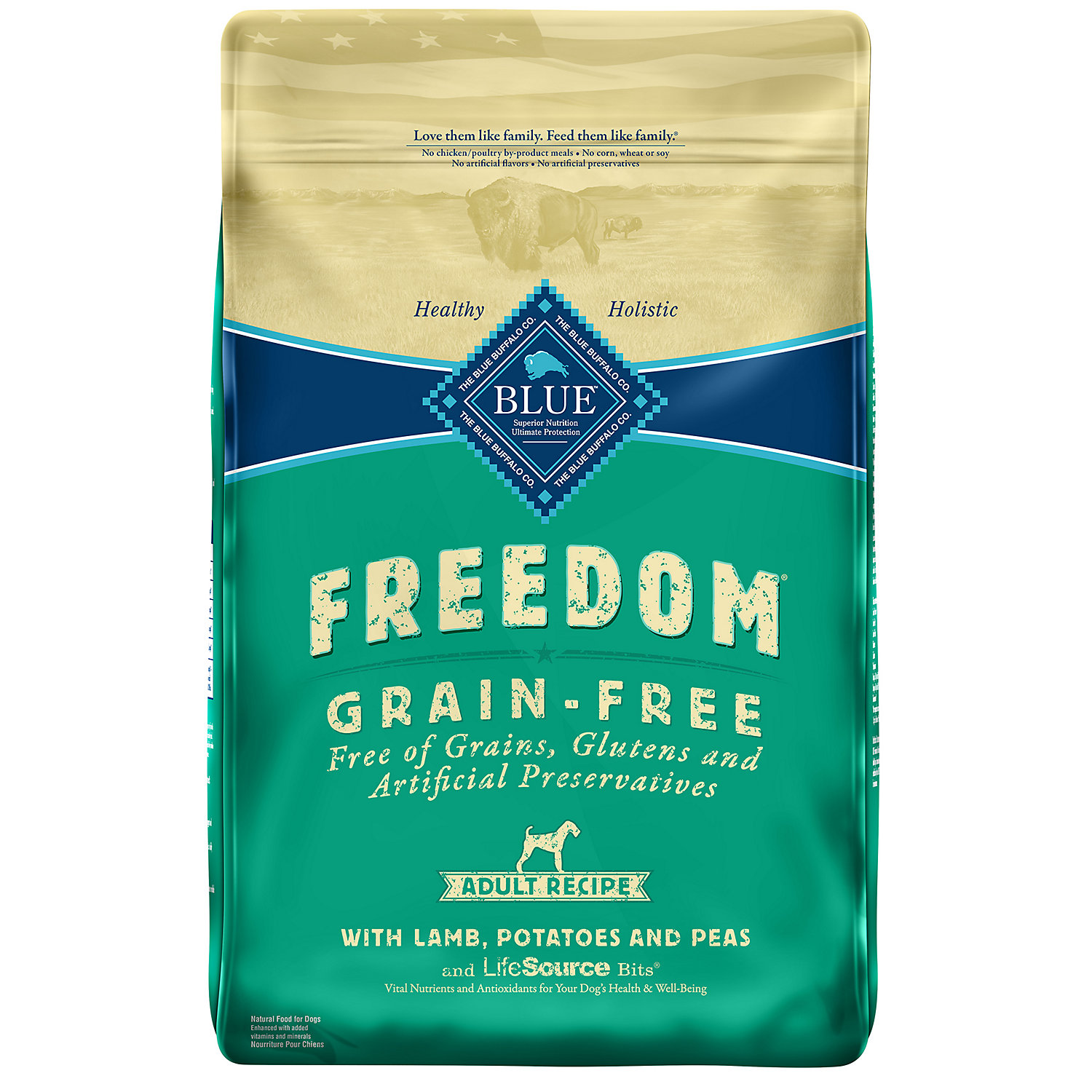Blue Freedom Grain-free Lamb Recipe Dry Food For Adult Dogs, 11 Lbs