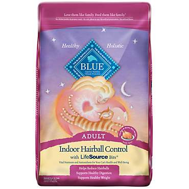 Blue Buffalo Blue Indoor Hairball Control Adult Chicken & Brown Rice Recipe Dry Cat Food