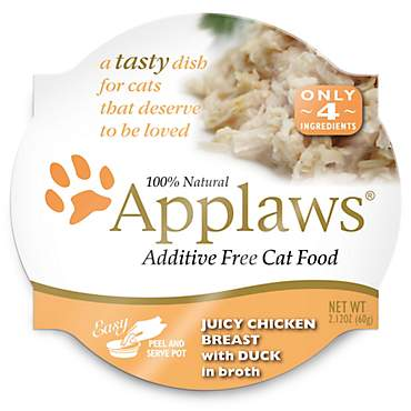 Applaws Juicy Chicken Breast with Duck Peel & Serve Pot Cat Food