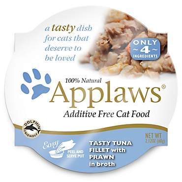 Applaws Tuna Fillet with Prawn Peel & Serve Pot Cat Food