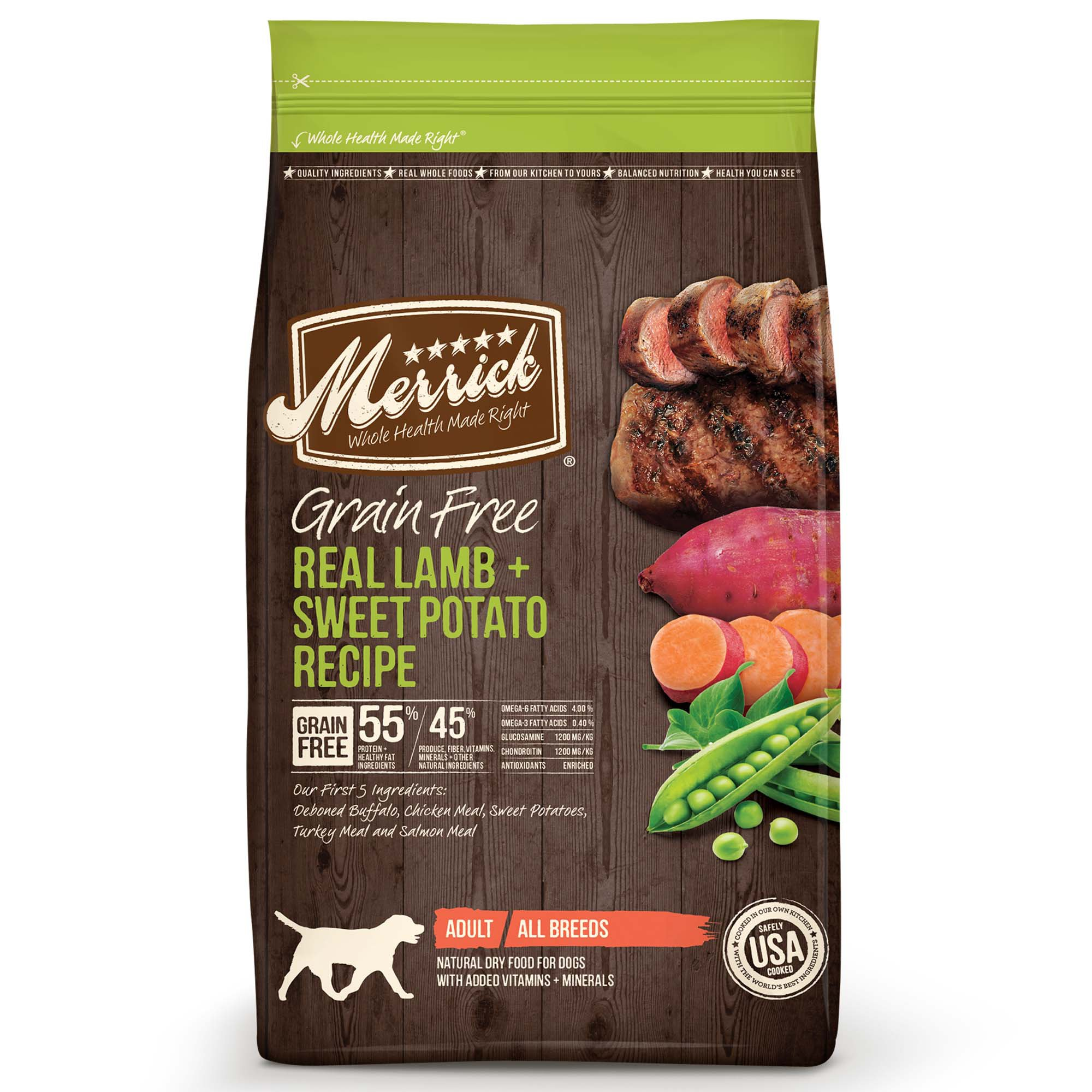 Merrick Grain Free Real Lamb Sweet Potato Dry Dog Food