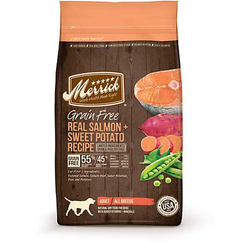 Merrick Grain Free Real Salmon + Sweet Potato Dry Dog Food