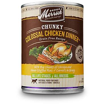 Merrick Chunky Grain Free Colossal Chicken Dinner Wet Dog Food