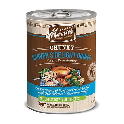 Merrick Chunky Grain Free Carver s Delight Dinner Wet Dog