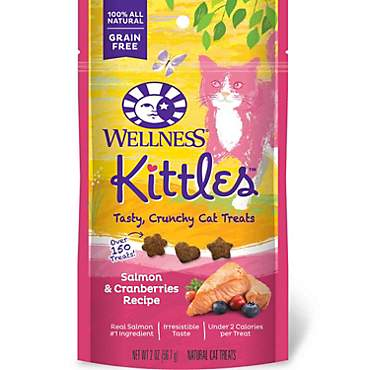 Wellness Kittles Crunchy Natural Grain Free Salmon & Cranberry Cat Treats