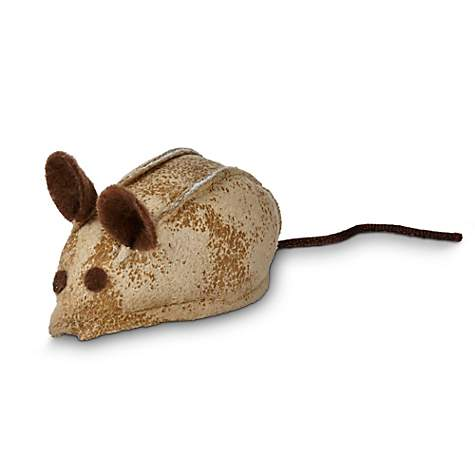 Leaps & Bounds Faux Leather Mouse Cat Toy with Rattle & Catnip