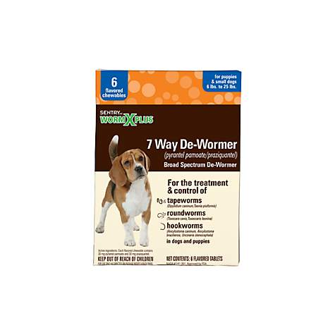 SentryHC WormX Plus Flavored De-Wormer Chewables for Small Dogs & Puppies
