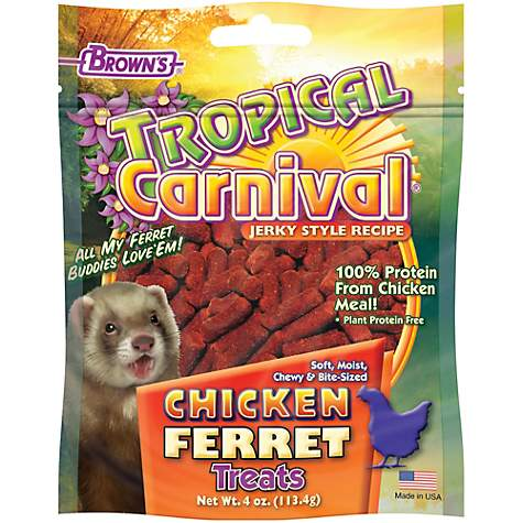 Brown's Tropical Carnival Jerky Chicken Ferret Treats