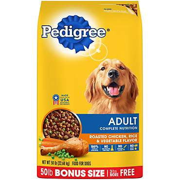Pedigree Adult Complete Nutrition Roasted Chicken, Rice & Vegetable Flavor Dry Dog Food