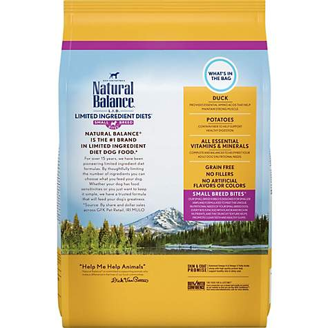 Natural Balance Small Breed Bites L I D Limited Ingredient Diets