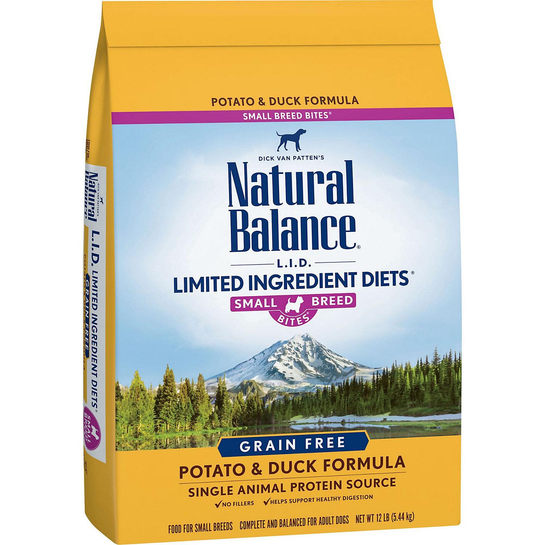 Natural Balance Small Bites Potato Duck Dog Food 12 Lbs.