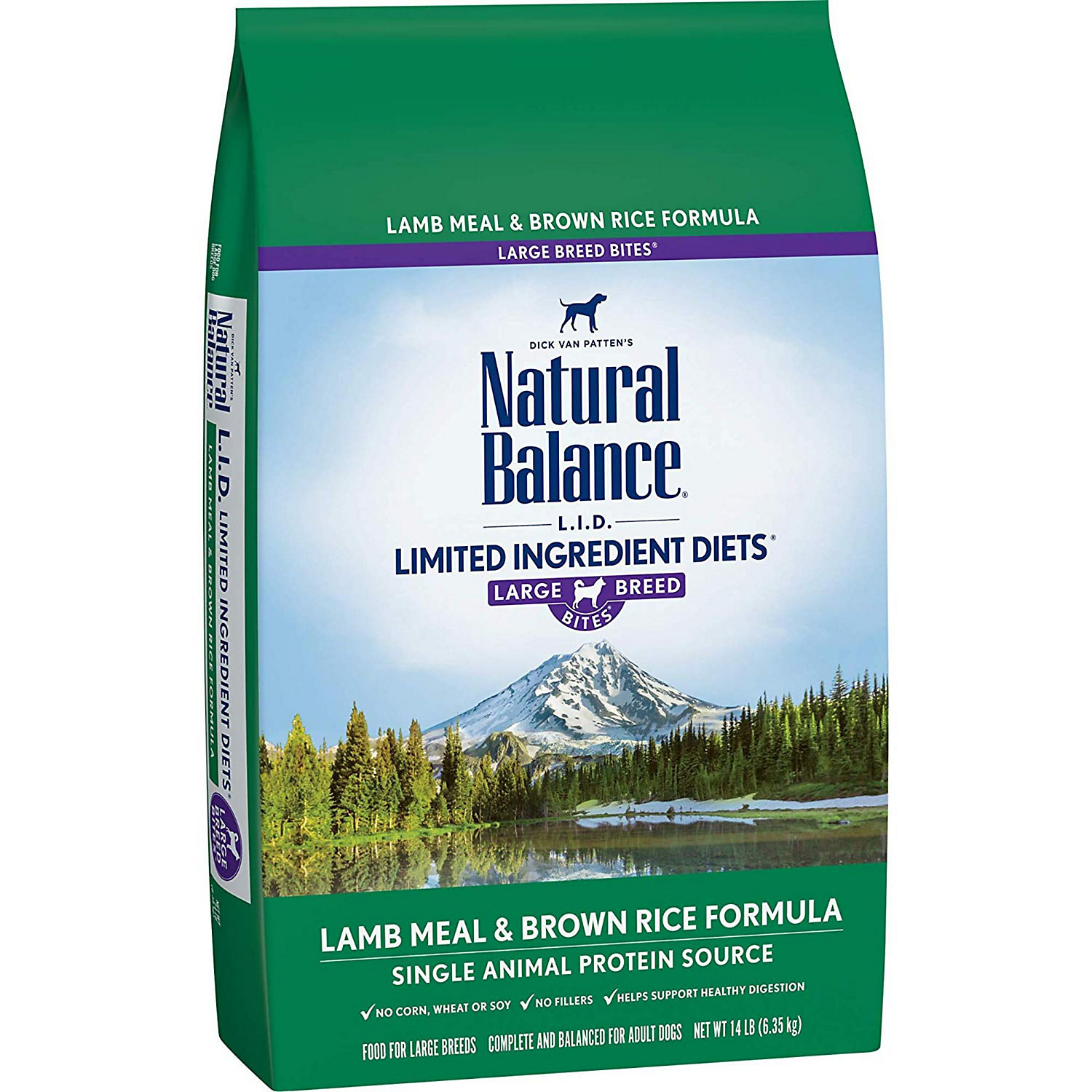 Natural Balance L.i.d. Limited Ingredient Diets Lamb Meal Brown Rice Large Breed Dog Food 14 Lbs.