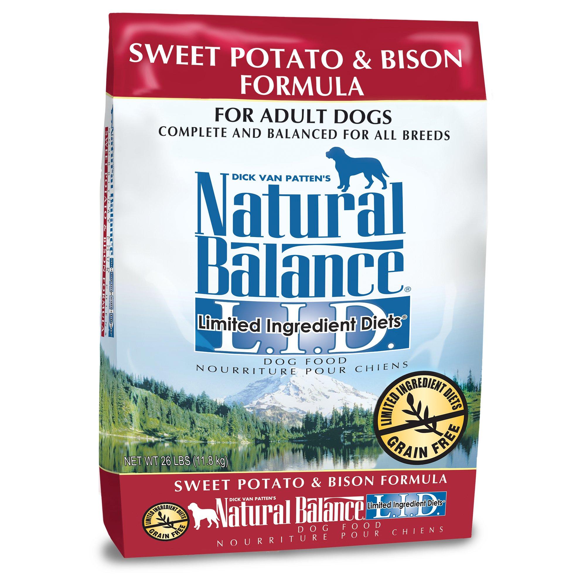 Natural Balance L I D Limited Ingre Ntts Sweet Potato Bison Dog Food