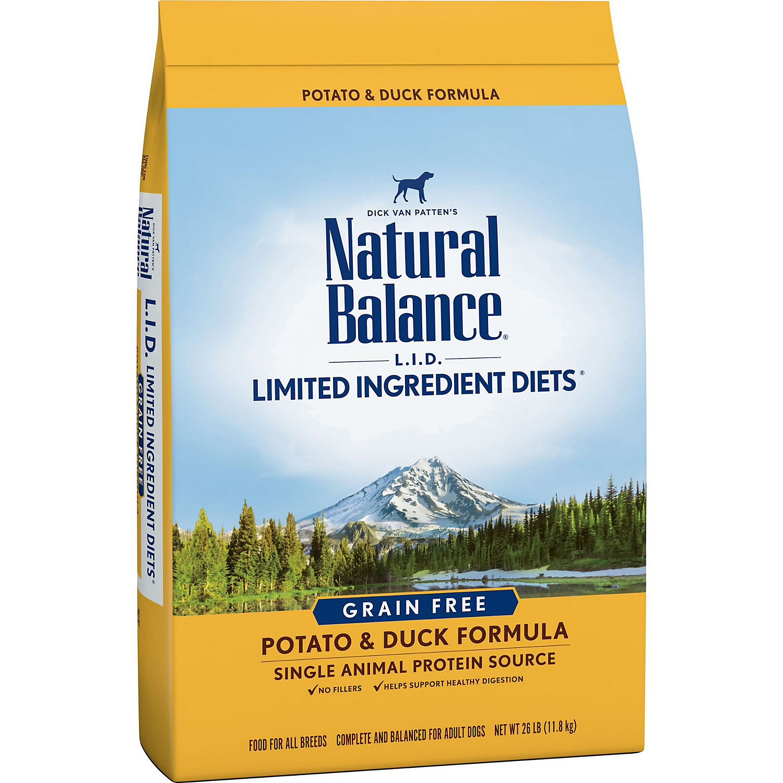 Natural Balance L.i.d. Grain Free Potato Duck Dog Food 26 Lbs.