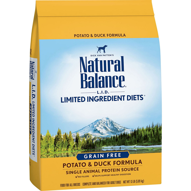 Natural Balance L.i.d. Grain Free Potato Duck Dog Food 13 Lbs.