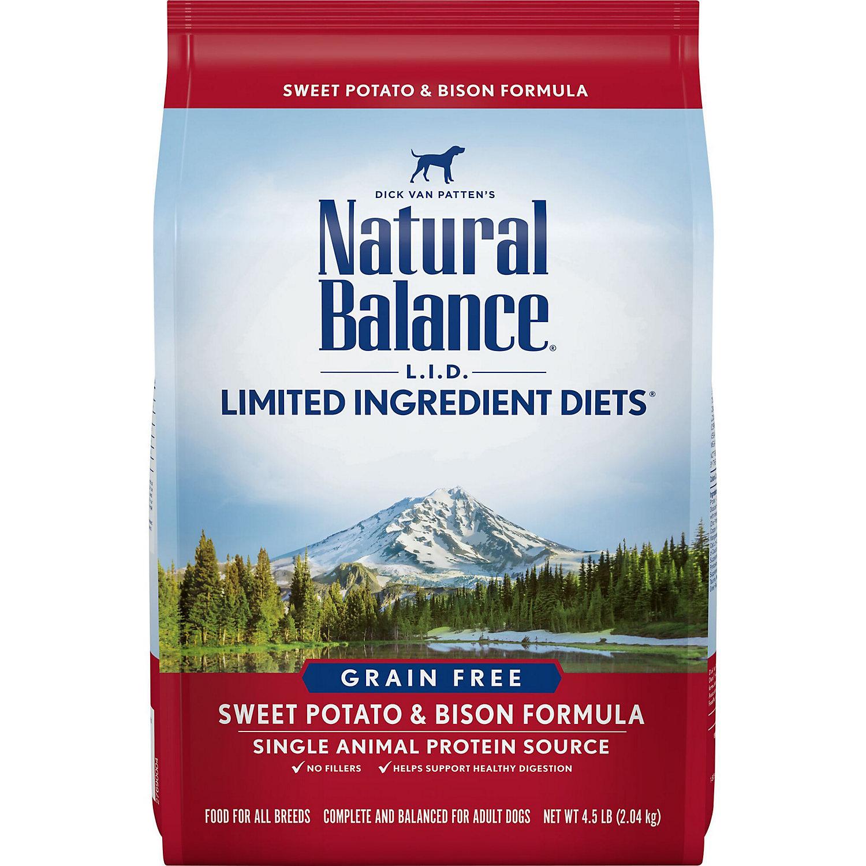 Natural Balance L.i.d. Limited Ingredient Diets Sweet Potato Bison Dog Food 4.5 Lbs.