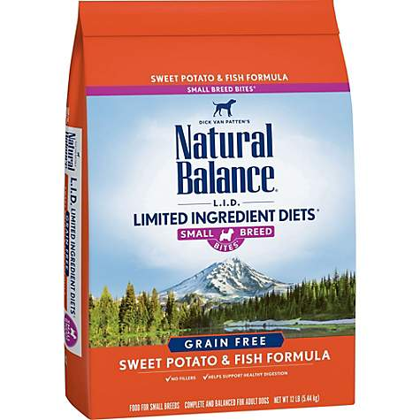 Natural Balance L.I.D. Limited Ingredient Diets Sweet Potato & Fish Small Breed Bites Dog Food