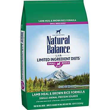 Natural Balance L.I.D. Limited Ingredient Diets Lamb & Rice Small Breed Bites Dog Food