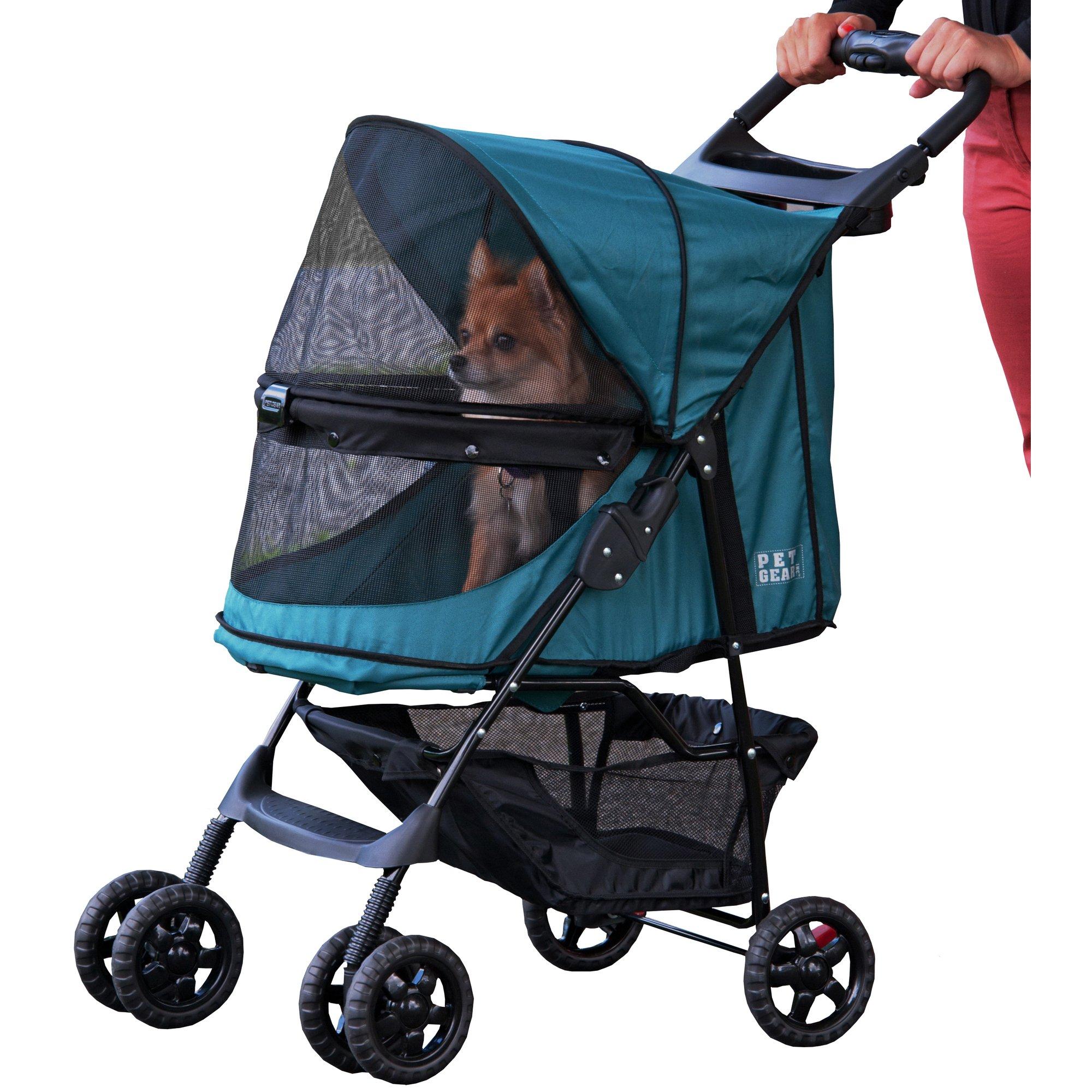 Pet Gear Happy Trails No-Zip Pet Stroller in Emerald | Petco