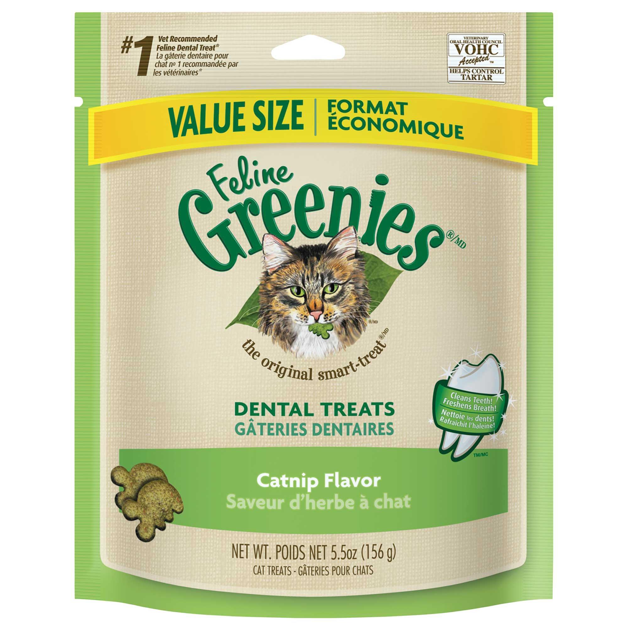 Image of Feline Greenies Catnip Flavor Dental Cat Treat, 5.5 oz.