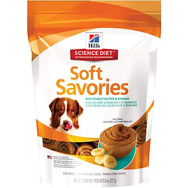 Hill's Science Diet Soft Savories with Peanut Butter & Banana Dog Treats