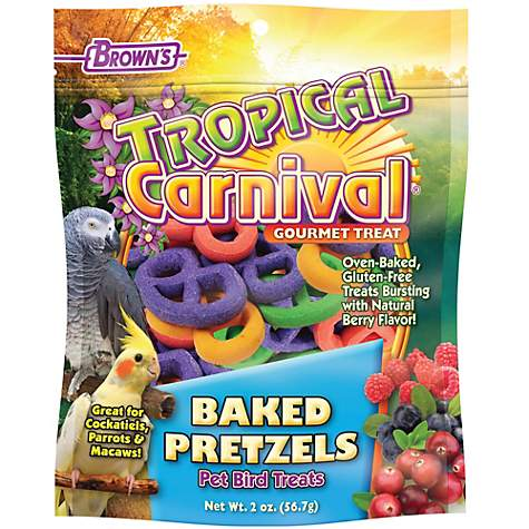 Brown's Tropical Carnival Baked Pretzels Bird Treats