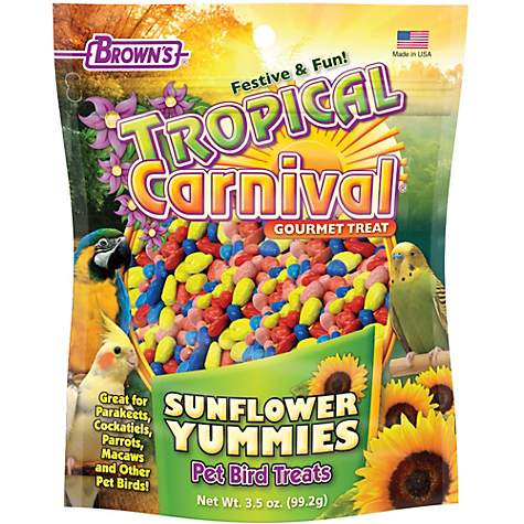 Brown's Tropical Carnival Sunflower Yummies Bird Treats