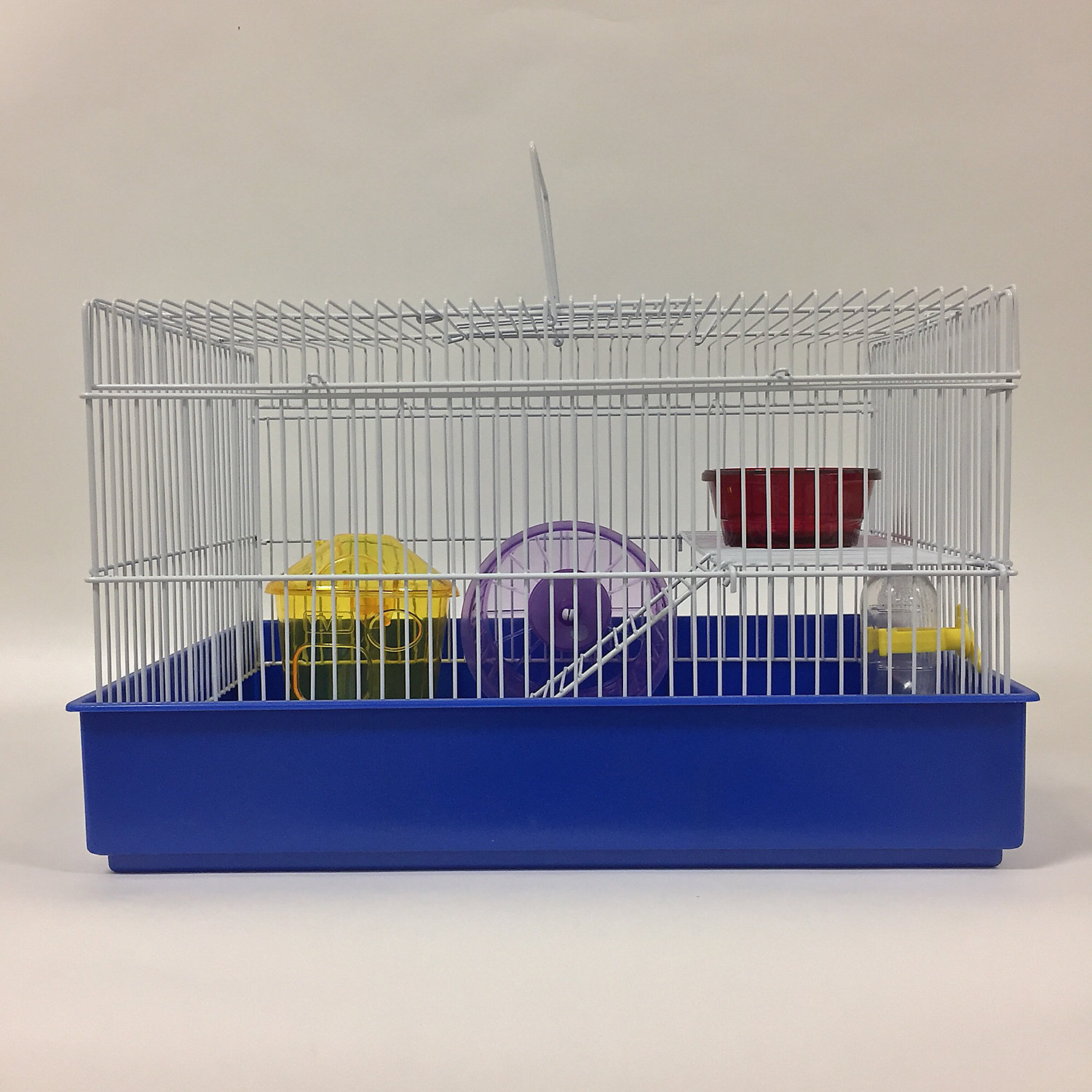 "Image of ""YML 2 Level Blue Hamster Cage, 15"""" L X 11"""" W X 9.5"""" H"""