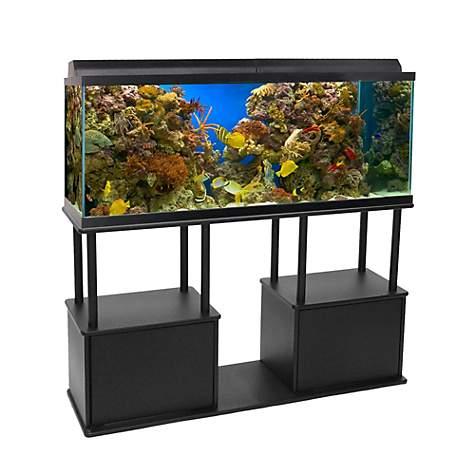 Aquatic fundamentals 55 gallon aquarium stand with shelf for Cheap 55 gallon fish tank
