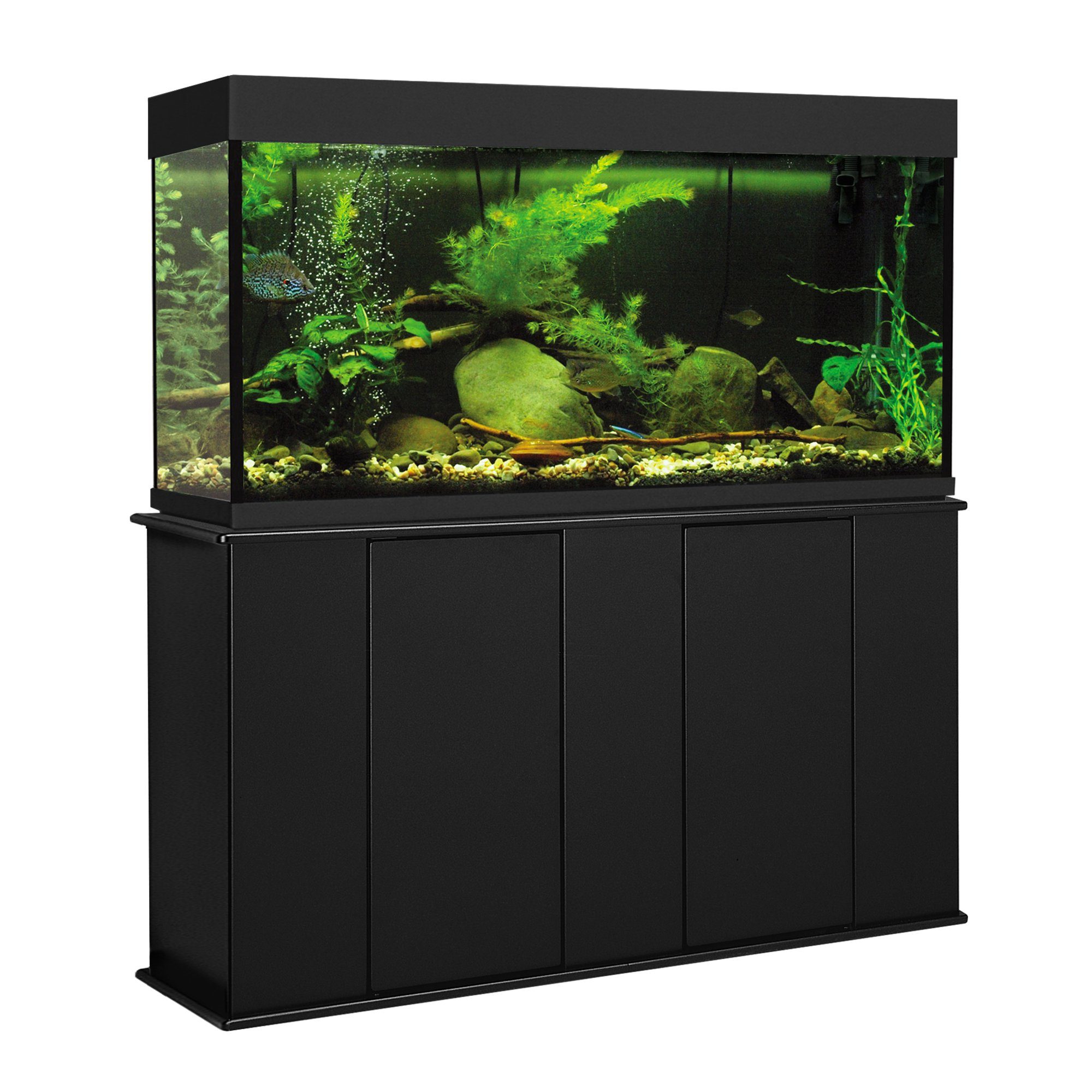 Aquatic Fundamentals 55 Gallon Upright Aquarium Stand  sc 1 st  Petco : fish tank with canopy - memphite.com