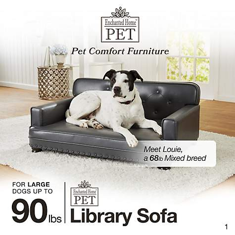 Remarkable Enchanted Home Pet Library Sofa Dog Bed In Brown 40 L X 29 5 W Machost Co Dining Chair Design Ideas Machostcouk