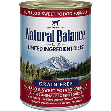 Natural Balance L.I.D. Limited Ingredient Diets Buffalo & Sweet Potato Wet Dog Food