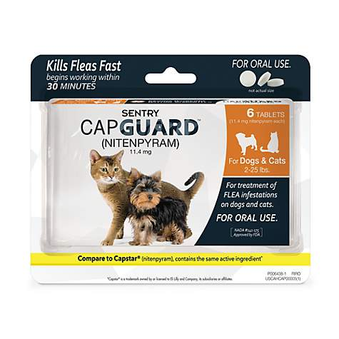 Sentry Capguard Flea Tablets for Cats 2 to 25 lbs.