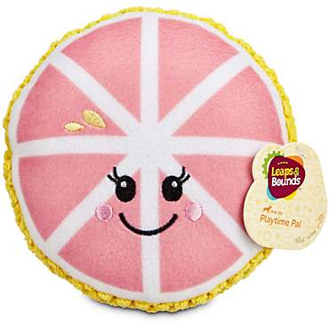 Leaps & Bounds Grapefruit Plush Dog Toy