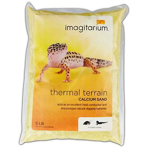 Imagitarium Yellow Calcium Reptile Sand