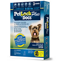 PetLock Plus Dog Flea Treatment for Dogs 6 to 22 lbs.