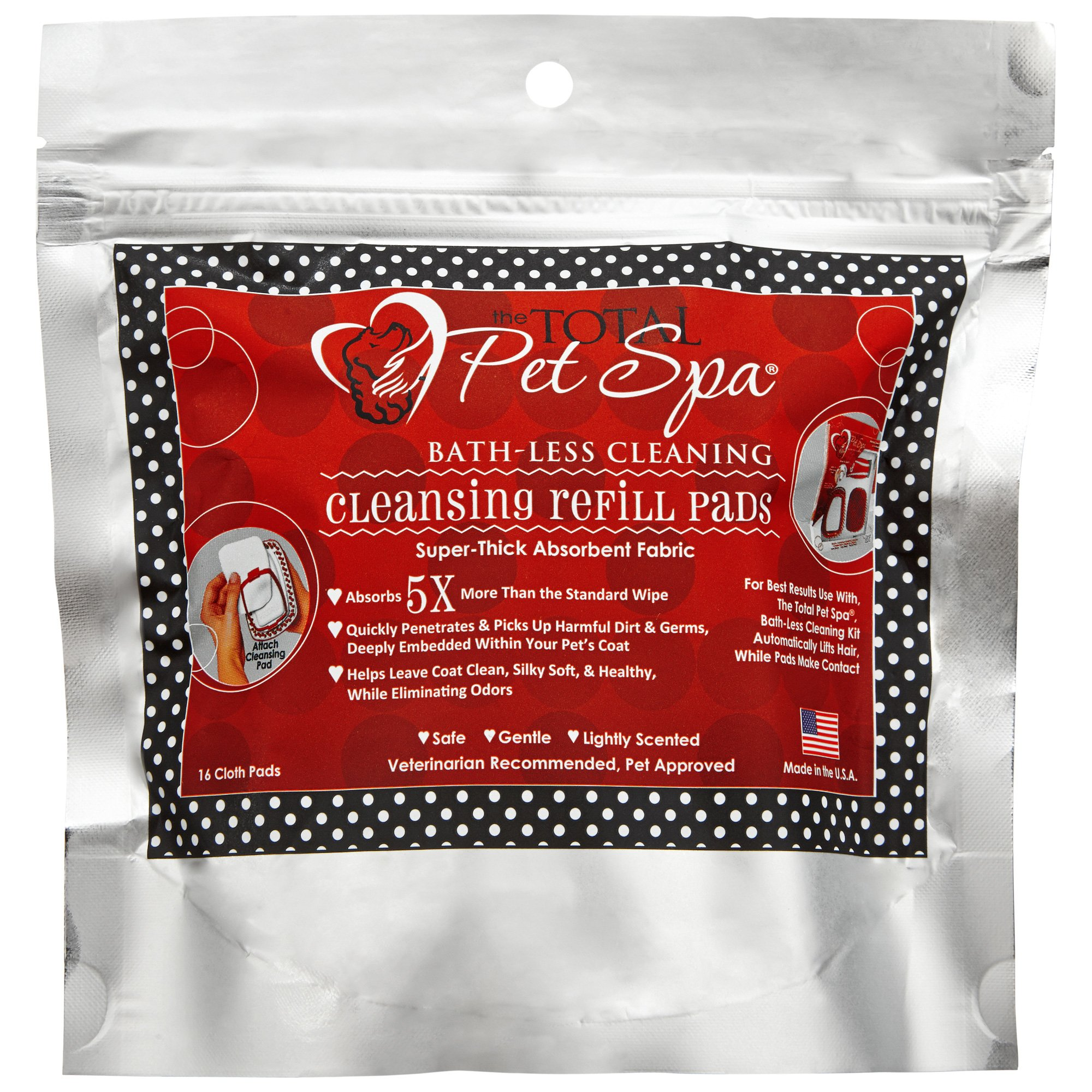 The Total Pet Spa Bathless Cleaning Dog Grooming Refill Wipes | Petco