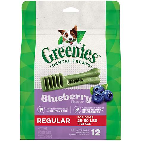 Greenies Blueberry Regular Dental Dog Treats