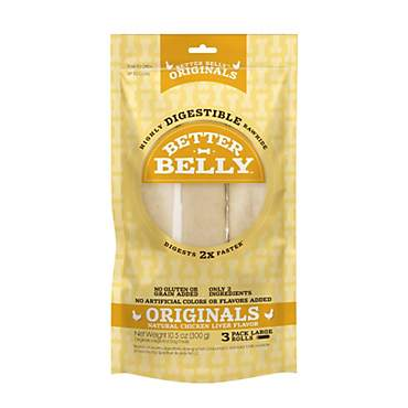 Better Belly Chicken Liver Rawhide Rolls Large Dog Chews