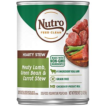 Nutro Hearty Stew Food Cuts in Gravy Meaty Lamb, Green Bean & Carrot Stew Adult Wet Dog Food